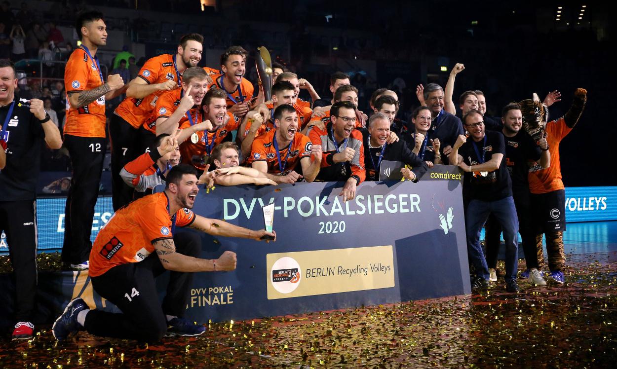 Eine Volleyballmacht: BR Volleys werden in ERIMA Pokalsieger