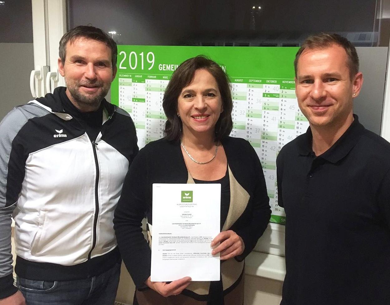 Brandenburgischer Leichtathletik-Verband vertraut ab sofort auf die Kompetenz von ERIMA