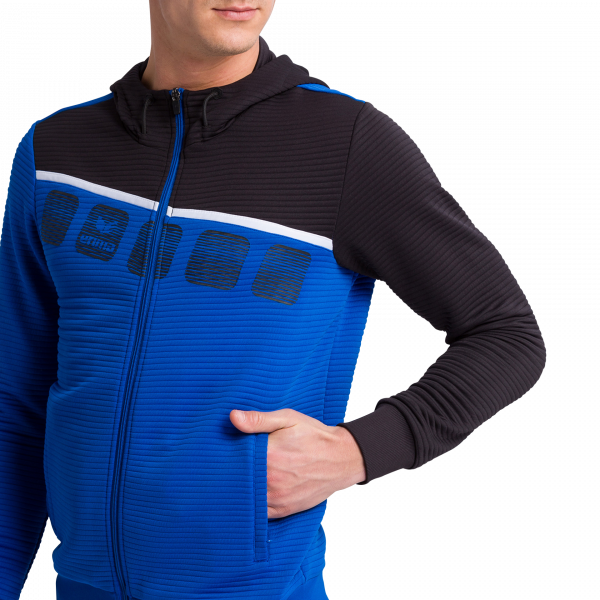 Herren 5-C Trainingsjacke mit Kapuze