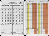 Spielnotizkarten Handball